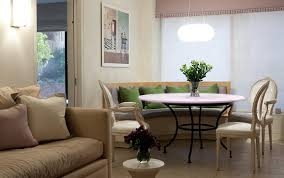 beige booth cushions dining room eclectic with gray bench cushion