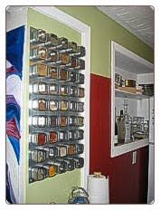 Stainless Steel Wall Spice Rack Wall Mounted Spice Rack