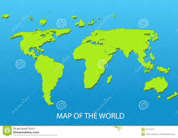 World Continents And Oceans Map by Dimensional World Map Royalty Free Stock Photography Image 32719757