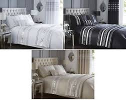 Bedding Sets Luxury Luxury Sequin Glitter Stripe Duvet Quilt Cover Bedding Set Or