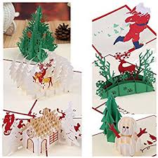 pop up christmas cards 3d christmas greeting cards papercraft 7 pack