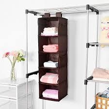 Baby Wardrobe Organiser Amazon Com Closet Hanging Shelf Maidmax 5 Shelf Collapsible