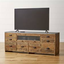 room and board zen media cabinet reclaimed wood tv stands crate and barrel