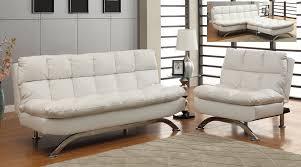 white leather futon sofa white leatherette plush pillow top sofa futon chair set