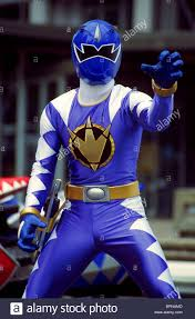 blue dino ranger power rangers dinothunder 2004 stock photo