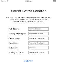 cover letter creator cover letter creator on the app