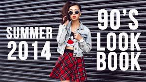 90 u0027s fashion inspired lookbook youtube