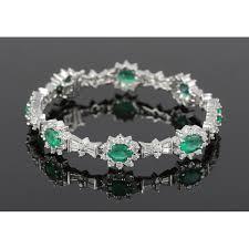 emerald bracelet images Vintage diamond emerald bracelet jonathanbuckhead png