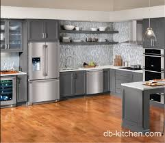 Custom Built Kitchen Cabinets Custom Made Grey Color Pvc Old Style Kitchen Cabinet