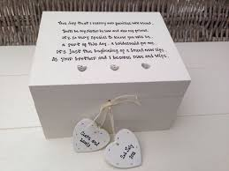 wedding gift personalised personalised chic bridesmaid in wedding gift jewellery box