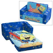 Flip Open Sofa For Kids by Spongebob Squarepants Flip Open Sofa With Slumber Bag Home