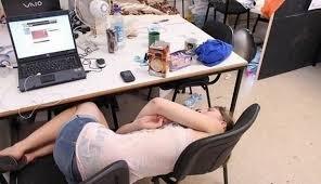 Sleeping At Your Desk Sleeping At Work Barnorama