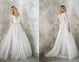 tulle wedding dress etsy