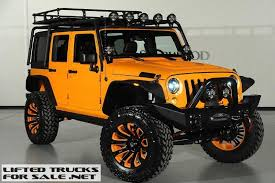 orange jeep wrangler unlimited for sale lifted jeep wrangler unlimited kevlar coated custom leather