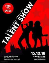 customizable design templates for talent show flyer postermywall