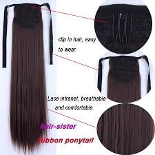 clip in ponytail s noilite 22 inches clip in ponytail hair extensions