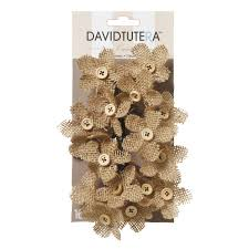 burlap flowers david tutera casual elegance burlap flower w button centers