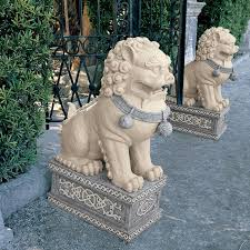 lion dog statue design toscano forbidden city foo dog statue reviews wayfair