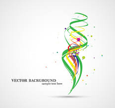 colorful ribbon colorful ribbon with dot vector background 02 vector background