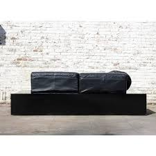 super eighties black leather sofa by harvink dutch design for