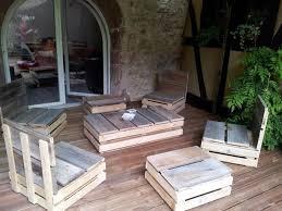 canapé de jardin en palette salon salon de jardin palette 15 idees salon jardin palettes