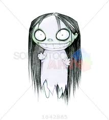 stock photo of goth black vector halloween sketch halloween female