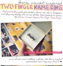 Two Finger Name Ring Mynamenecklace Two Finger Name Ring Yina Goes