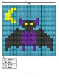bat color fun math practice free multiplication worksheet 4th
