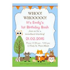 woodland birthday invitations u0026 announcements zazzle co uk