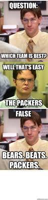 Bears Packers Meme - packers vs bears memes quickmeme