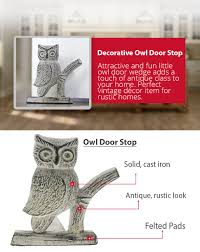 decorative door stopper amazon com cast iron owl door stop decorative door stopper