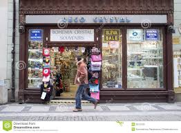 Crystal Souvenirs Bohemia Crystal Shop In Prague Editorial Stock Photo Image 30123783