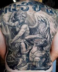 54 tattoos on back