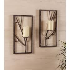 Wall Candle Sconces With Glass Wall Decor Candle Sconces Completure Co