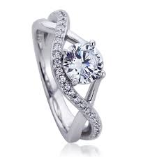 design an engagement ring accent platinum plated sterling silver wedding ring
