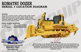 serial number location for your komatsu dozer