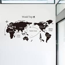 compare prices on diy wall decoration online shopping buy low 2016 new world trip map wall sticker for kids rooms decorative removable pvc wall decal diy