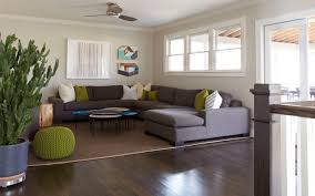 Grey Modern Sofa by Incredible Home Family Room Interior Designed With Dark Grey