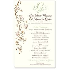 wedding programs wording sles wedding ceremony program invitations archives the wedding