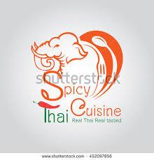 elephant cuisine spicy cuisine elephant logo design เวกเตอร สต อก 452097856
