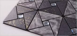 Metallic Tile Backsplash Kitchen Diamond Crystal Glass Mosaic - Glass and metal tile backsplash