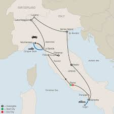 Italy Cities Map by Italy Escorted Tours U0026 Vacation Packages Globus