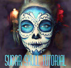 Halloween Skeleton Faces by Sugar Skull Makeup Tutorial Youtube