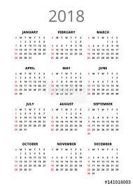 Calendar 2018 Ai Template 2018 Year Calendar Vertical Book Orientation Vector Template Of