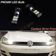 2x white pw24w led daytime running light bulbs for vw golf mk7