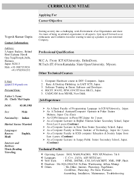 Computer Science Resume Examples Summer Job Resume Template