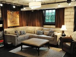 basement bedroom renovation ideas flower patterned gray wallpaper
