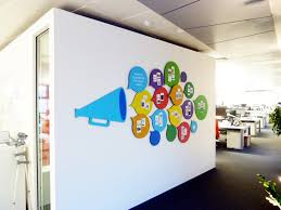 a bespoke magnetic tweet wall designed to be a decorative piece