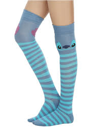 halloween knee socks disney lilo u0026 stitch stripe stitch over the knee socks topic