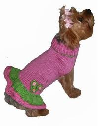 girlie sweater for small dogs by dallas dogs pink green